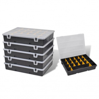 vidaXL Sortimentsboxen 6 Stk.