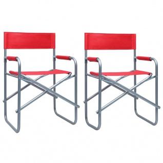 vidaXL Regiestühle 2 Stk. Stahl Rot