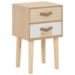 vidaXL Nachttisch mit 2 Schubladen 30x25x49, 5 cm Massivholz Kiefer