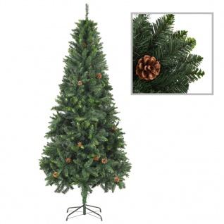 vidaXL Künstlicher Weihnachtsbaum mit Kiefernzapfen Grün 210 cm