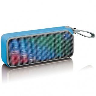 Lenco Bluetooth Stereo Lautsprecher/Diskolicht BT-191 Blau