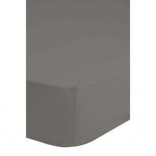 Emotion Bügelfreies Spannbettlaken 180x220 cm Grau 0220.03.47