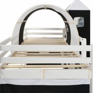 vidaXL Kinderhochbett-Rahmen mit Rutsche & Leiter Kiefernholz 97x208cm - Vorschau 4