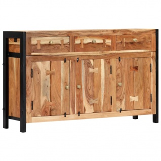 vidaXL Sideboard 120 x 35 x 75 cm Massivholz Akazie