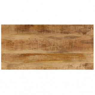vidaXL Couchtisch 110 x 50 x 35 cm Mango-Massivholz und Stahl - Vorschau 4