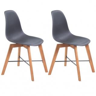 vidaXL Esszimmerstühle 2 Stk. Schwarz Kunststoff