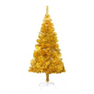 vidaXL Künstlicher Weihnachtsbaum mit Ständer Golden 152 cm PET