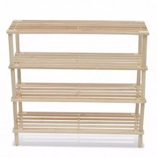 2x Holz Holz Holz Schuhregal Schuhablage 4 Ablage 5e40c0