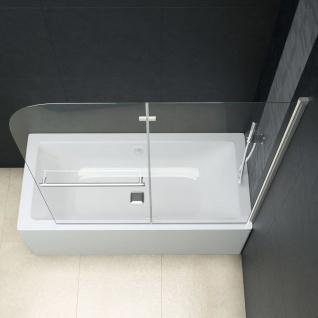 vidaXL Faltbare Duschkabine 2 Paneele ESG 120 x 140 cm - Vorschau 4