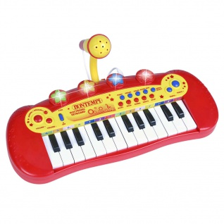 Bontempi Spielzeug E-Keyboard mit Mikrofon 24 Tasten