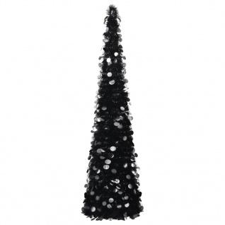vidaXL Künstlicher Pop-Up-Weihnachtsbaum Schwarz 180 cm PET