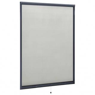 vidaXL Insektenschutzrollo für Fenster Anthrazit 120x170 cm