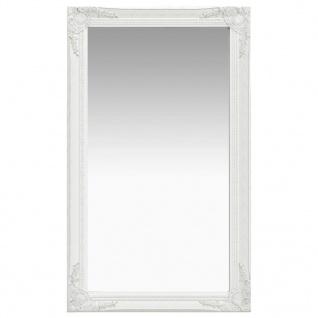 vidaXL Wandspiegel im Barock-Stil 60 x 100 cm Weiß