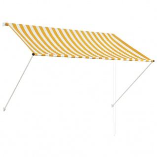 vidaXL Einziehbare Markise Gelb und Weiß 200 x 150 cm