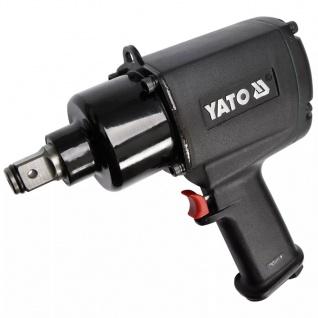 YATO Schlagschrauber mit Doppelhammer-Schlagwerk Schwarz YT-09564