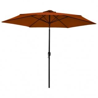 vidaXL Sonnenschirm mit Metall-Mast Terracotta-Rot 300 cm