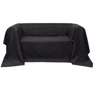 Micro-Suede Sofaüberwurf Tagesdecke Anthrazit 140 x 210 cm
