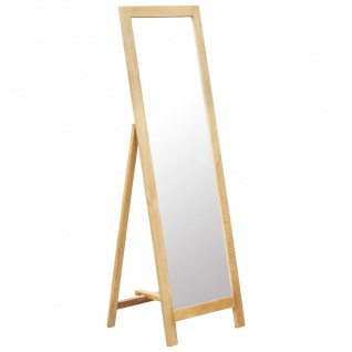 vidaXL Standspiegel 48 x 46, 5 x 150 cm Massivholz Eiche