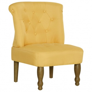 vidaXL Französische Stühle 2 Stk. Gelb Stoff - Vorschau 4