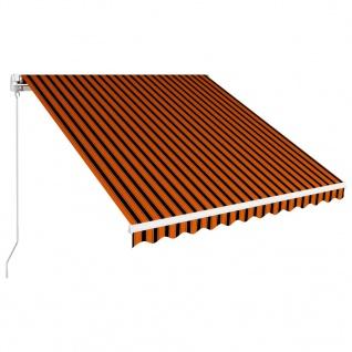 vidaXL Einziehbare Markise Handbetrieben 300 x 250 cm Orange und Braun