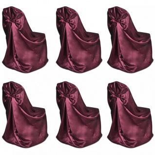 6 x Stuhlhusse für Hochzeit Bankett burgunderrot