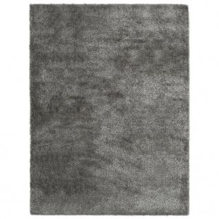 vidaXL Hochflor-Teppich 160 x 230 cm Anthrazit