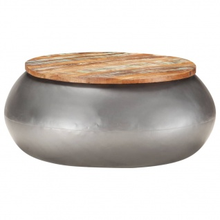 vidaXL Couchtisch Grau 68x68x30 cm Recyceltes Massivholz