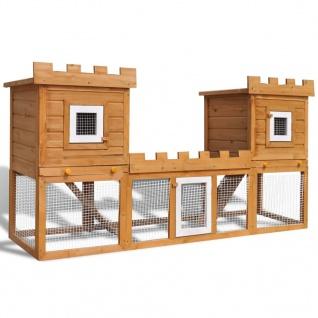 Großer Kaninchenstall Kleintierkäfig Doppelhaus