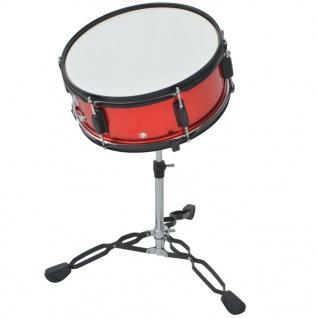 vidaXL Schlagzeug Komplettset Pulverbeschichteter Stahl Rot Erwachsene - Vorschau 5
