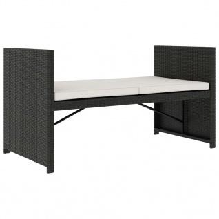 vidaXL 5-tlg. Garten-Lounge-Set mit Auflagen Poly Rattan Schwarz - Vorschau 5