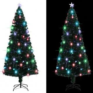 vidaXL Künstlicher Weihnachtsbaum mit Ständer + LED 210 cm 280 Zweige