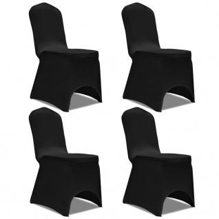 vidaXL Stretch Stuhlbezug 4 Stück Schwarz