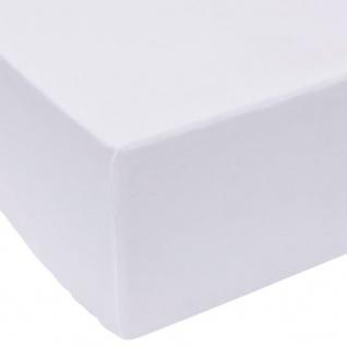 vidaXL Spannbettlaken 2 Stück 90x200 cm Baumwolle Weiß
