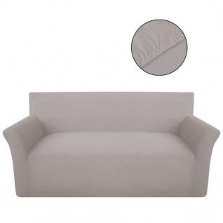 Sofahusse Sofabezug Stretchhusse Baumwoll-Jersey Beige