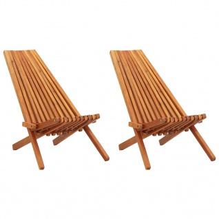 vidaXL Garten-Liegestühle 2 Stk. Massivholz Akazie