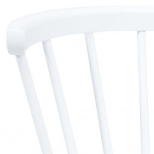 vidaXL Esszimmerstühle 2 Stk. Weiß und Braun Gummiholz Massiv - Vorschau 5