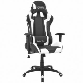 vidaXL Bürostuhl Gaming-Stuhl Neigbar Kunstleder Weiß