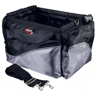 TRIXIE Fahrradtasche für Hunde 41x25x26 cm Schwarz und Grau 13113