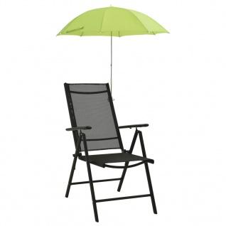 vidaXL Sonnenschirme für Campingstühle 2 Stk. Grün 105 cm