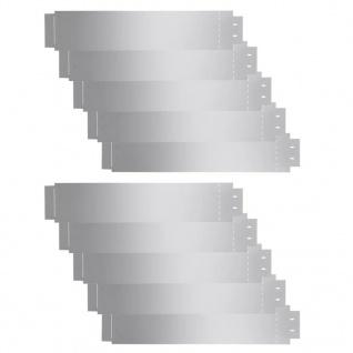 vidaXL Rasenkanten 10 Stk. Verzinkter Stahl 100 x 20 cm - Vorschau 2