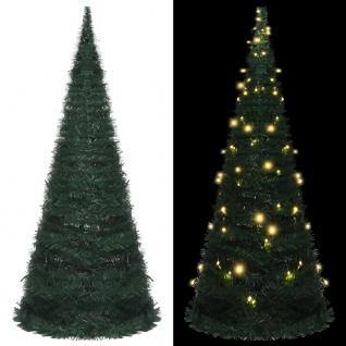 vidaXL Künstlicher Pop-Up-Weihnachtsbaum mit LED Grün 210 cm