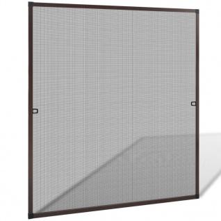 Insektengitter für Fenster 120 x 140 cm braun