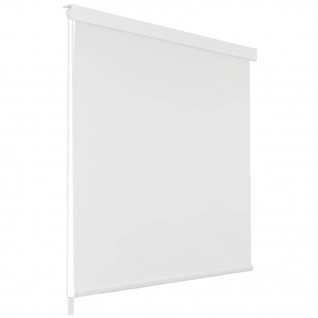 vidaXL Duschrollo 120 x 240 cm Weiß