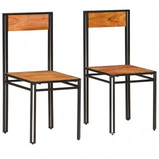 vidaXL Esszimmerstühle 2 Stk. Akazien-Massivholz