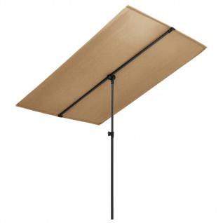 vidaXL Sonnenschirm mit Aluminium-Mast 2x1, 5 m Taupe