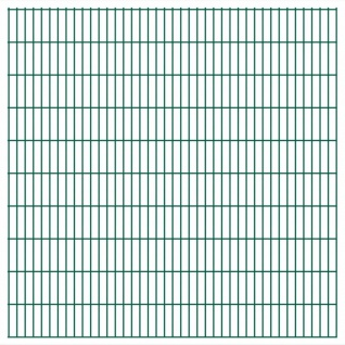 vidaXL 2D Gartenzaun-Elemente 2, 008x2, 03 m Gesamtlänge 32 m Grün