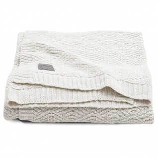 Jollein Babydecke River Knit 100 x 150 cm Cremeweiß