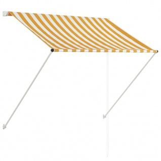 vidaXL Einziehbare Markise 150 x 150 cm Gelb und Weiß