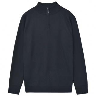 vidaXL Herren Pullover Sweater mit Reißverschluss Marineblau M