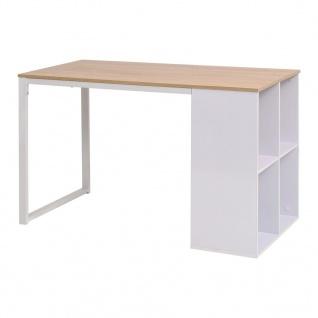 vidaXL Schreibtisch 120×60×75 cm Eichenbraun und Weiß